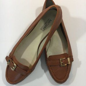 Michael Kors Leather Loafer with Buckle Trim - 9.5